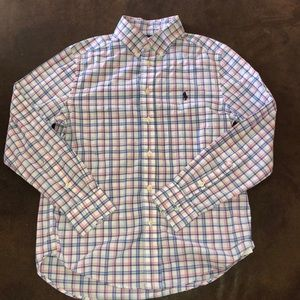 Ralph Lauren Plaid Button Down Shirt Size 10-12